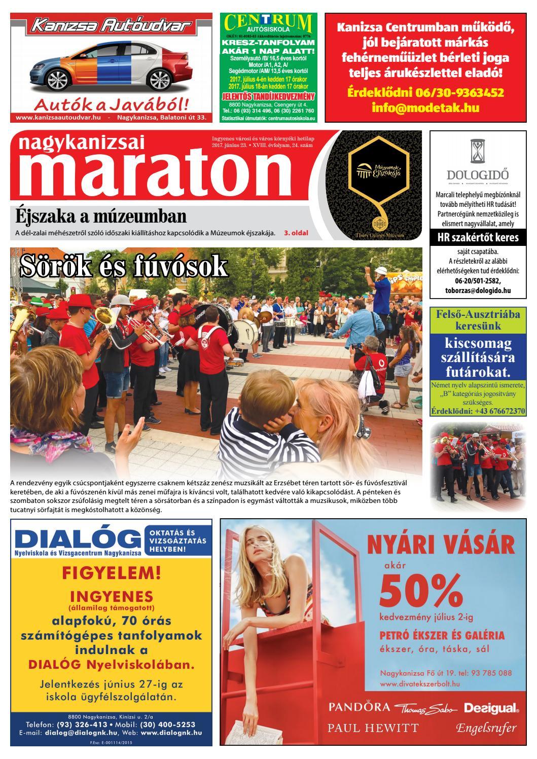 Nagykanizsai Maraton - 2017. 06. 23. by Maraton Lapcsoport Kft. - issuu 1b6664b0bc