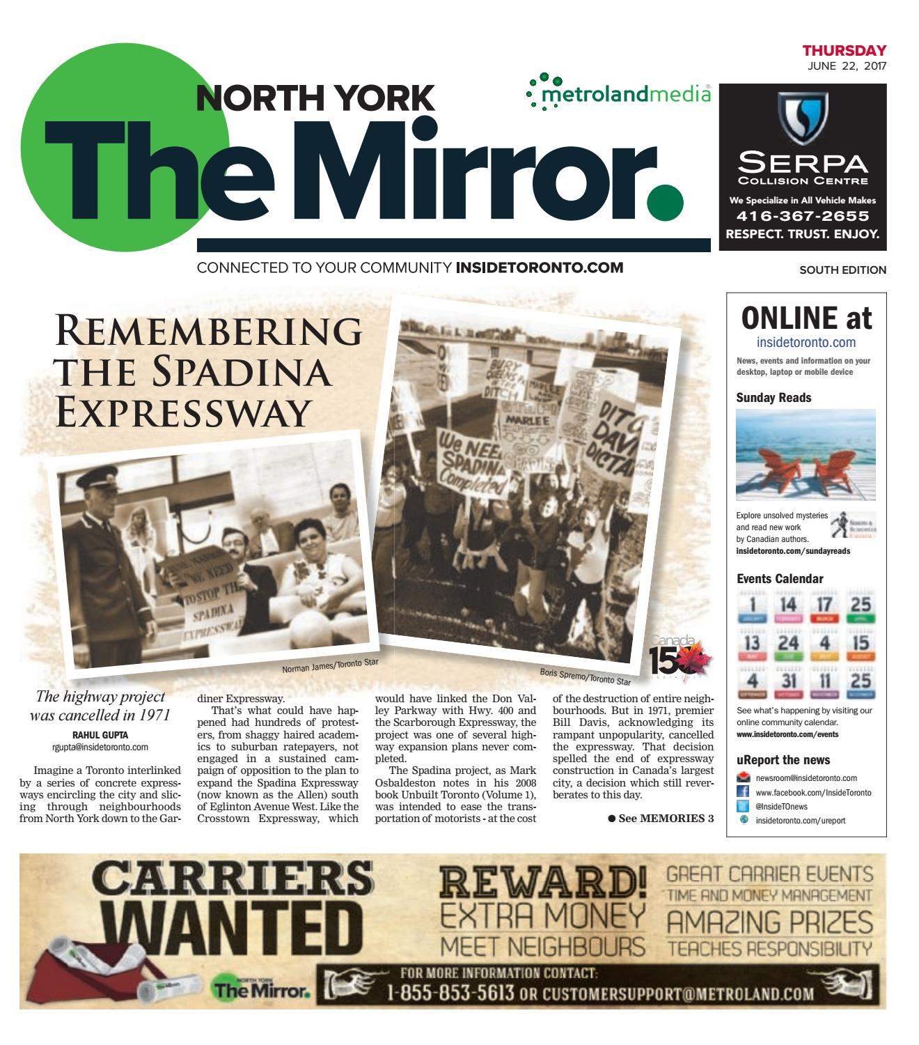 The North York Mirror South, June 22, 2017 by The North York