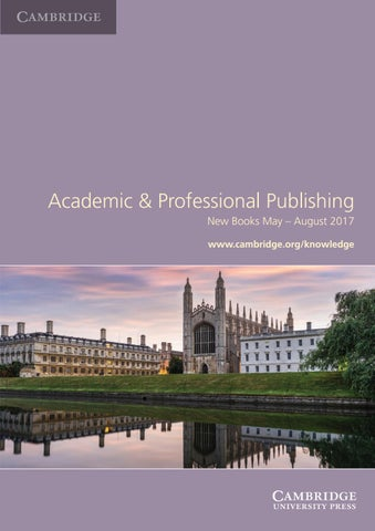 Academic and professional publishing new books may august 2017 by page 1 fandeluxe Gallery