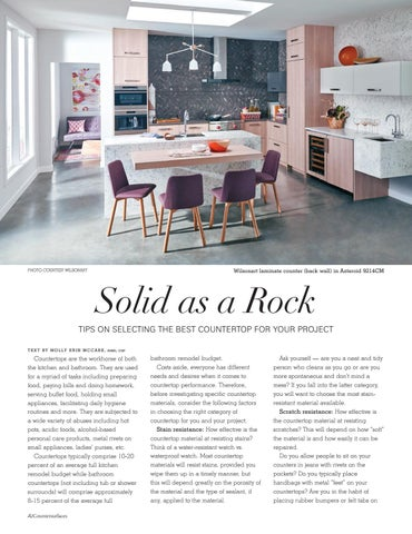Page 48 of Solid as a Rock — Tips on selecting the best countertop for your project
