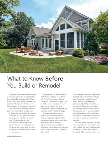 Page 4 of What to Know Before You Build or Remodel