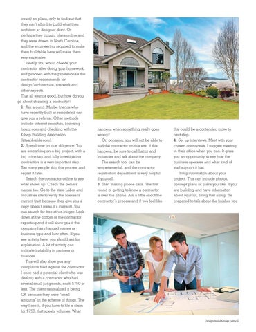 Page 5 of What to Know Before You Build or Remodel