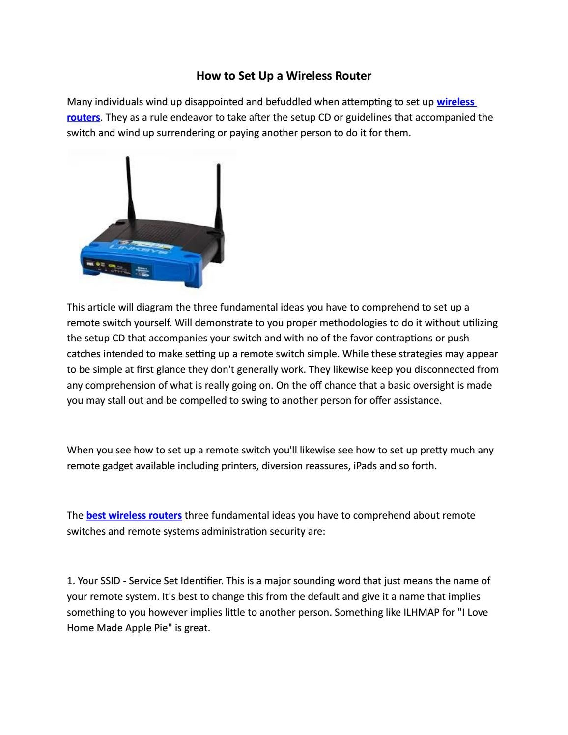 How To Set Up A Wireless Router By Digital Issuu Hook Diagram