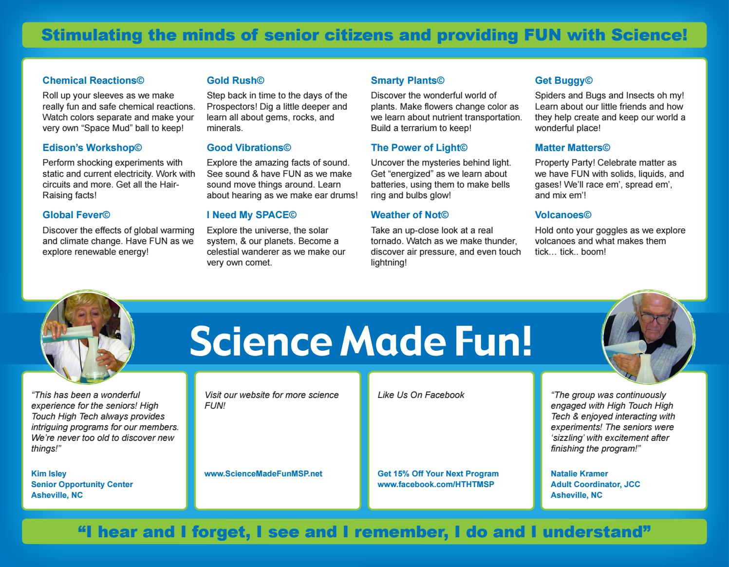 Seniors brochure - High Touch High Tech of Twin Cities by