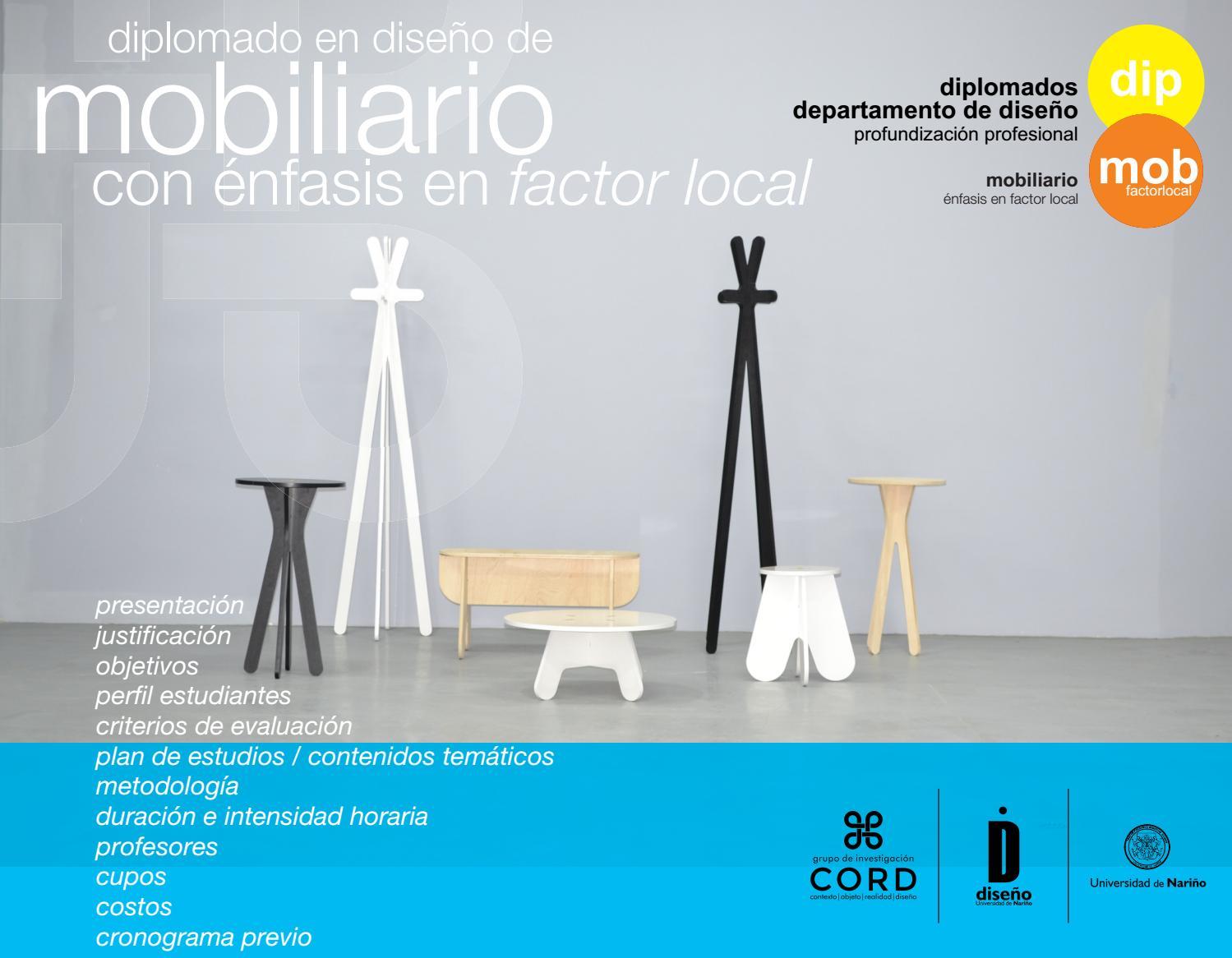 Diplomado En Dise O De Mobiliario Con Nfasis En Factor Local By  # Muebles Grupo Seis