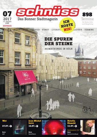 Schnüss 2017/07 by Schnüss - Das Bonner Stadtmagazin - issuu