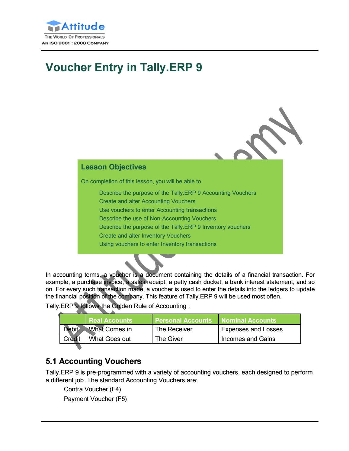 Tally Erp 9 Inventory Tutorial Pdf