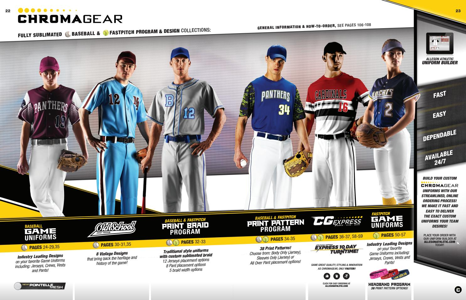 Alleson Athletic Spring and Summer Catalog 2018