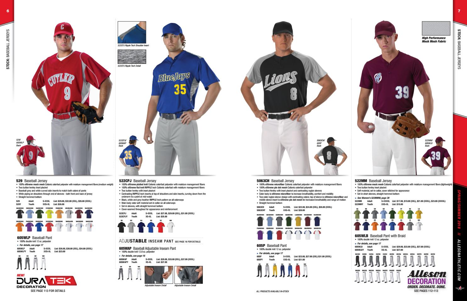 6eb46352b96 Alleson Athletic Spring and Summer Catalog 2018 by LTS - Legacy Team Sales  - issuu