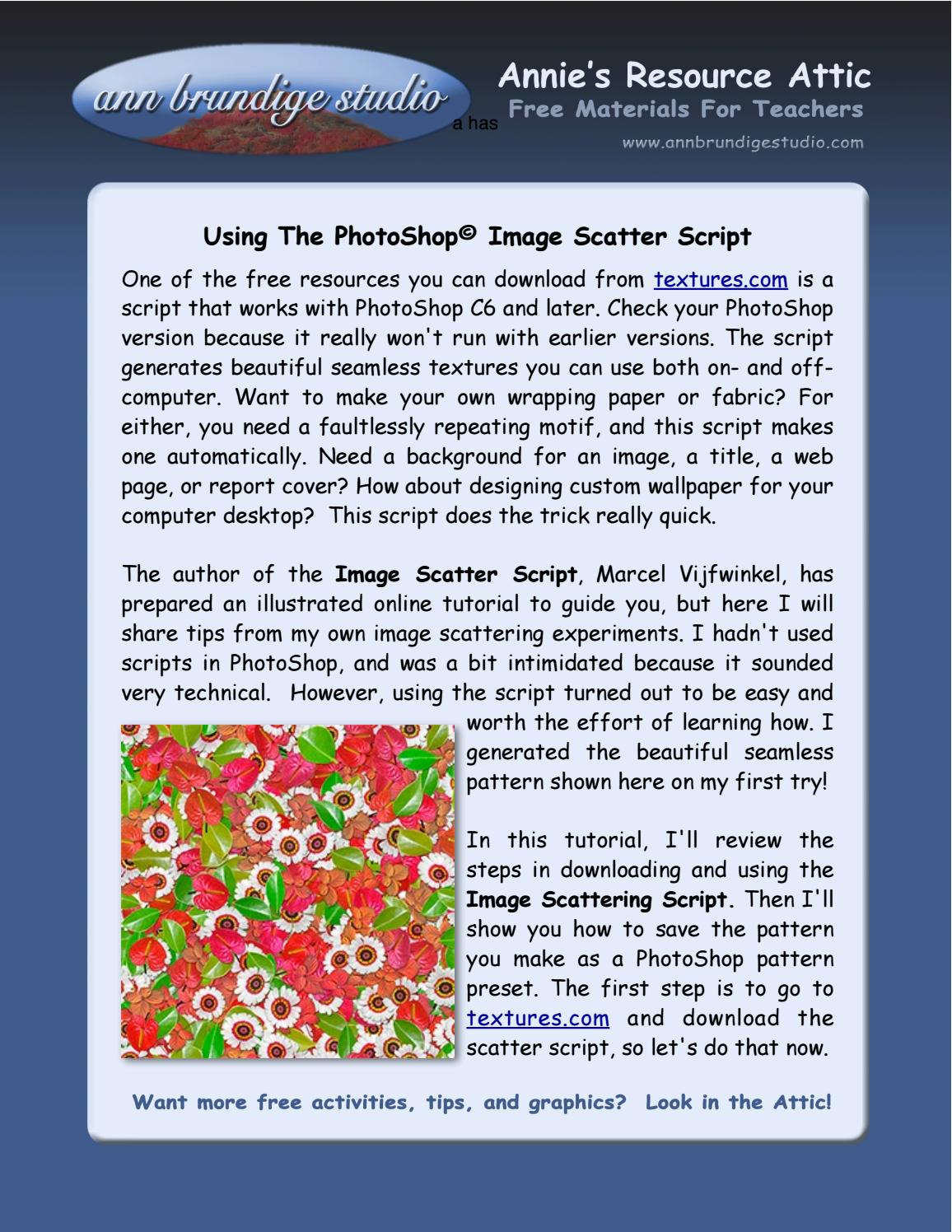 Photoshop image scatter script tutorial by annies tutorials online photoshop image scatter script tutorial by annies tutorials online issuu baditri Images