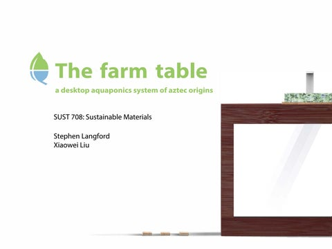 Brilliant The Farm Table By Think Outside Designs Issuu Alphanode Cool Chair Designs And Ideas Alphanodeonline