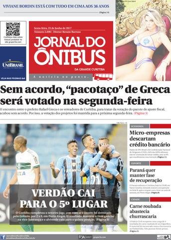 23bb9f697 Jornal do Ônibus de Curitiba - Edição 23 06 2017 by Editora Correio ...