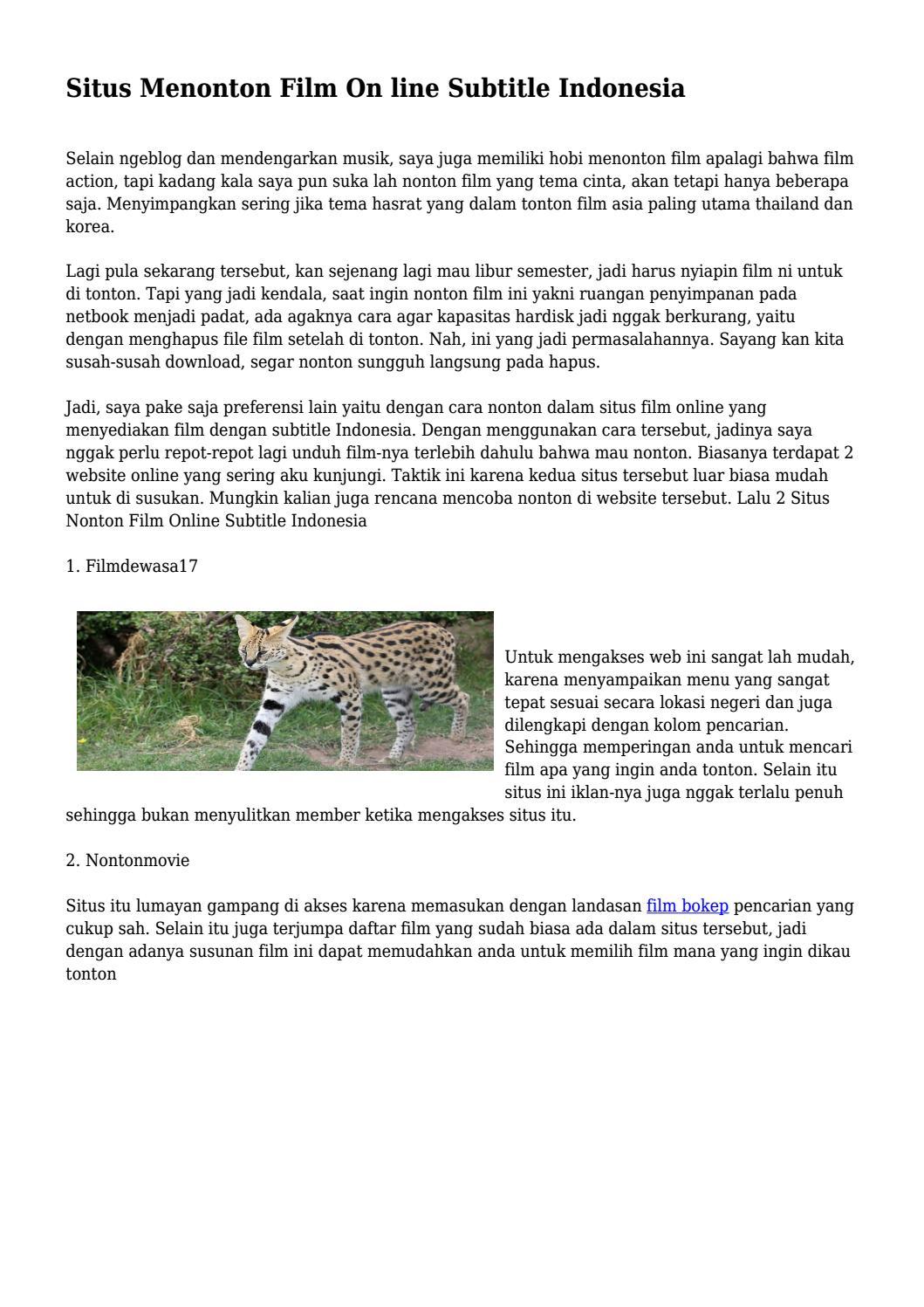 Situs Menonton Film On line Subtitle Indonesia    by tapbelanjaexpo