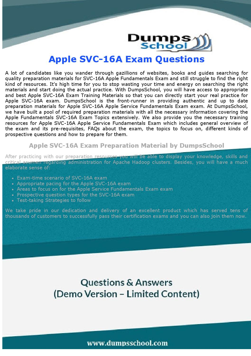 Svc 16a Dumps Svc 16a Exam Questions By Richardmurray Issuu