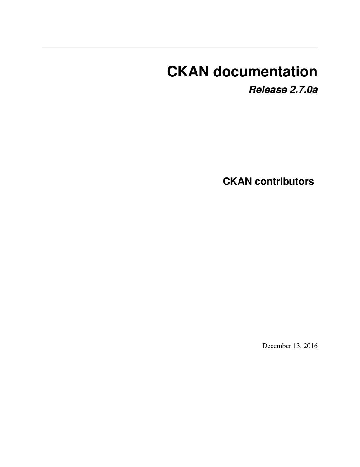 Ckan by Pascual Pérez - issuu