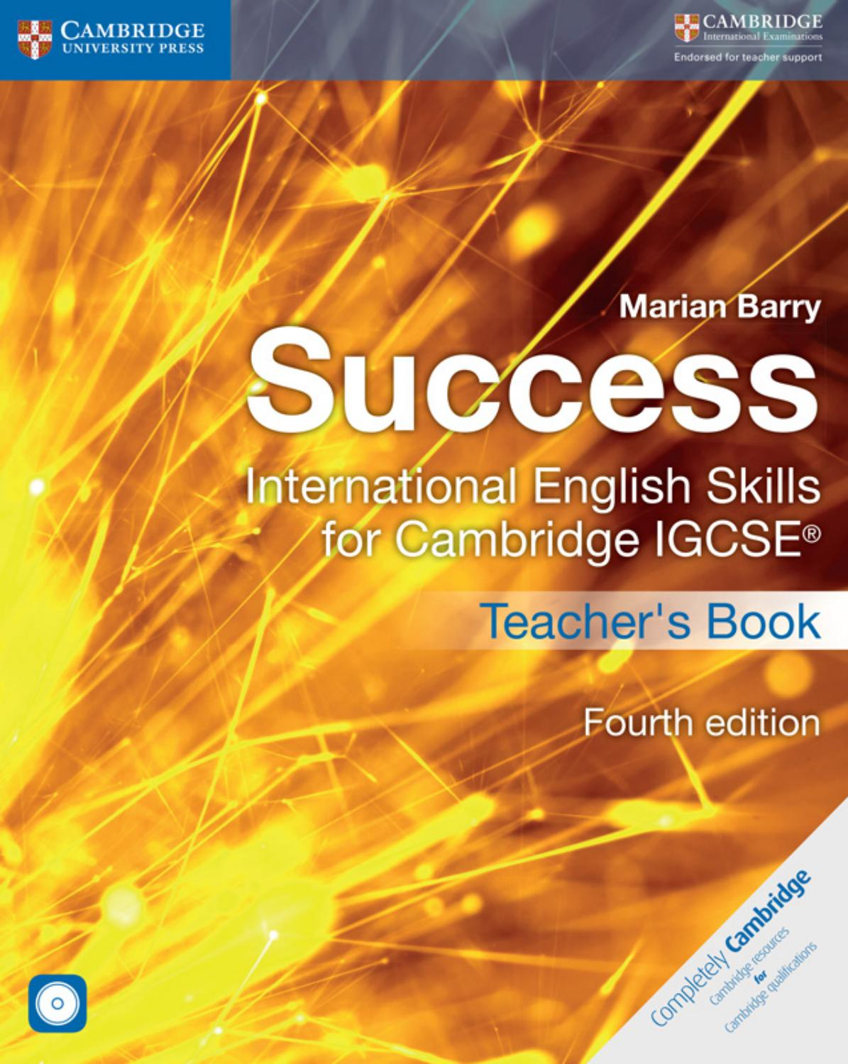 Preview Success - International English Skills for Cambridge IGCSE® Teacher's  Book by Cambridge University Press Education - issuu