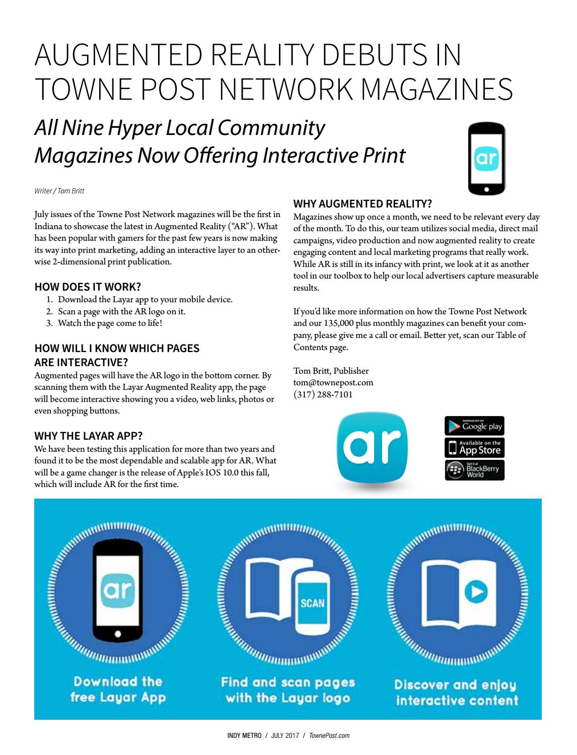 Broad Ripple Magazine July 2017 by Towne Post Network, Inc