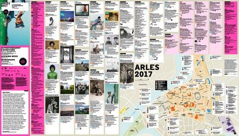 Program and map Arles 2017 by Les Rencontres de la photographie