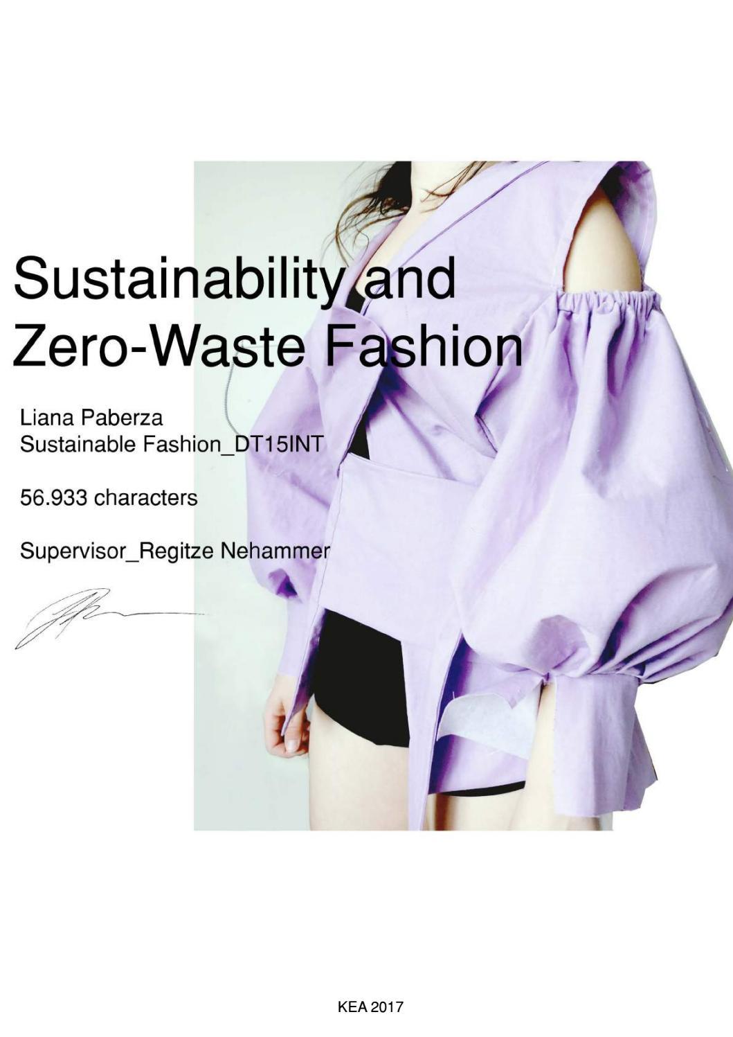 Sustainability And Zero Waste Fashion By Liana Paberza Issuu