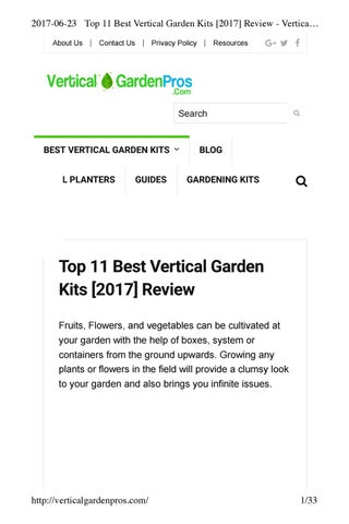 Top 11 Best Vertical Garden Kits 2017 Review Vertical Garden Kit