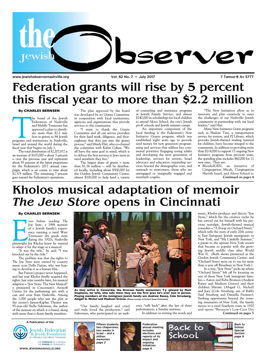 Telegraphic Sch Example | The Observer Vol 82 No 7 July 2017 By Jewish Observer Issuu