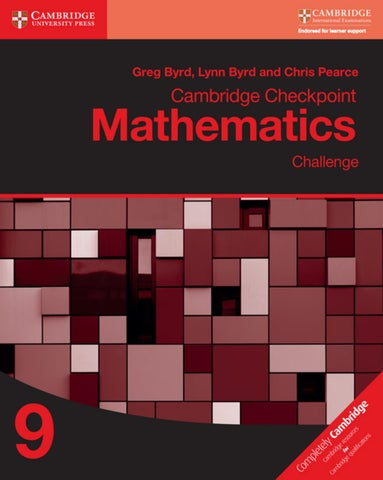 Preview Cambridge Checkpoint Mathematics Challenge 9 by