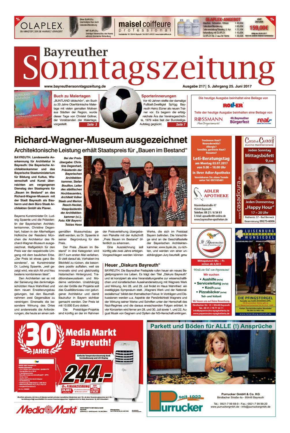 Maler Bayreuth bayreuther sonntagszeitung vom 25 06 2017 by bayreuther