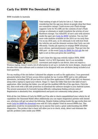 Carly For BMW Pro Download Free (8)    by gracefuldog28 - issuu
