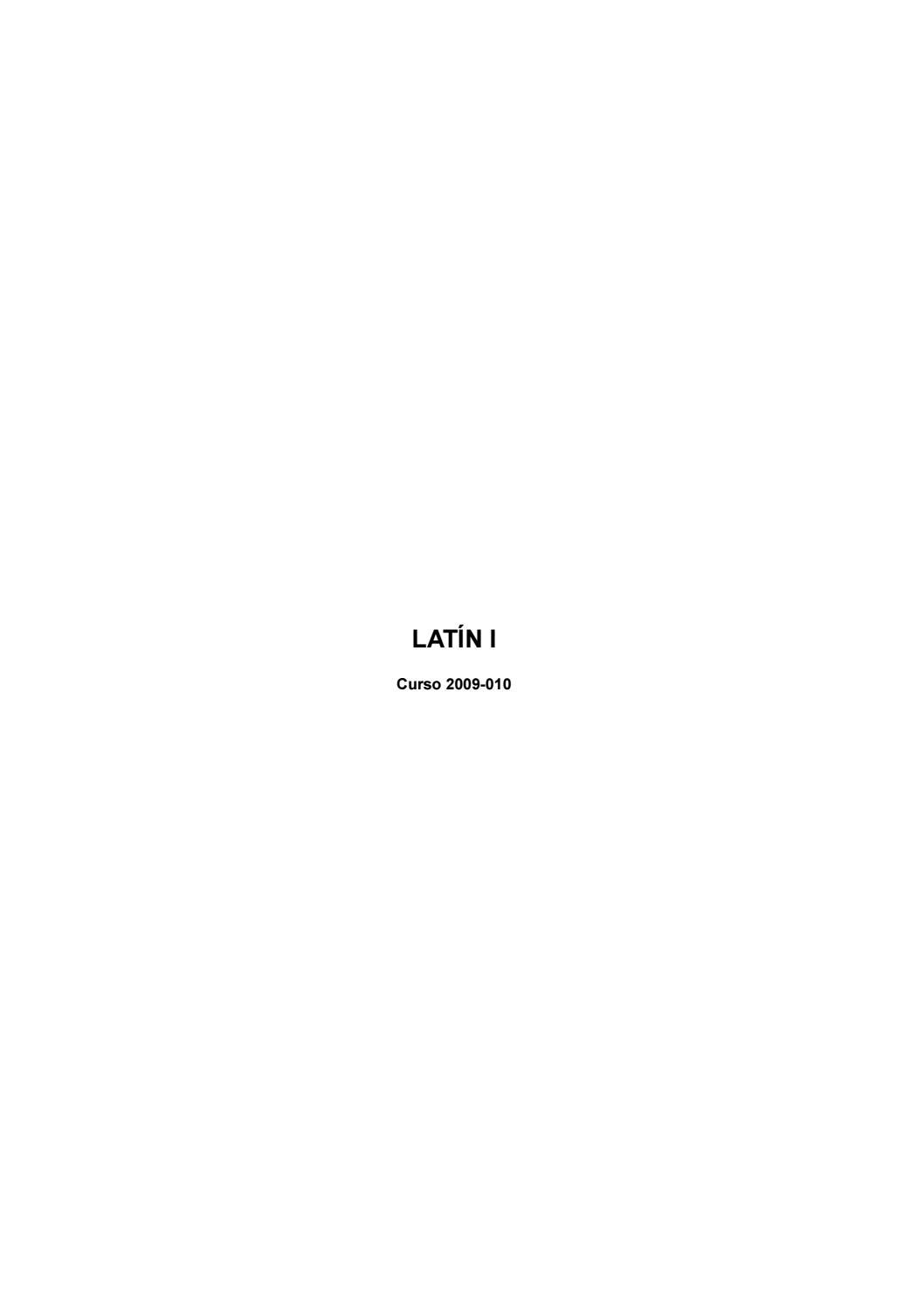 A d gramática latina by Miguel Jesus - issuu