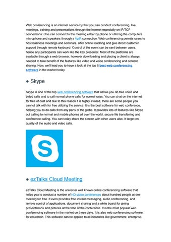 A Look at the Best Web Conferencing Software by ezTalks - issuu