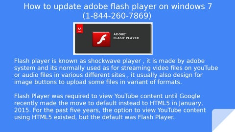 flash player for windows 7