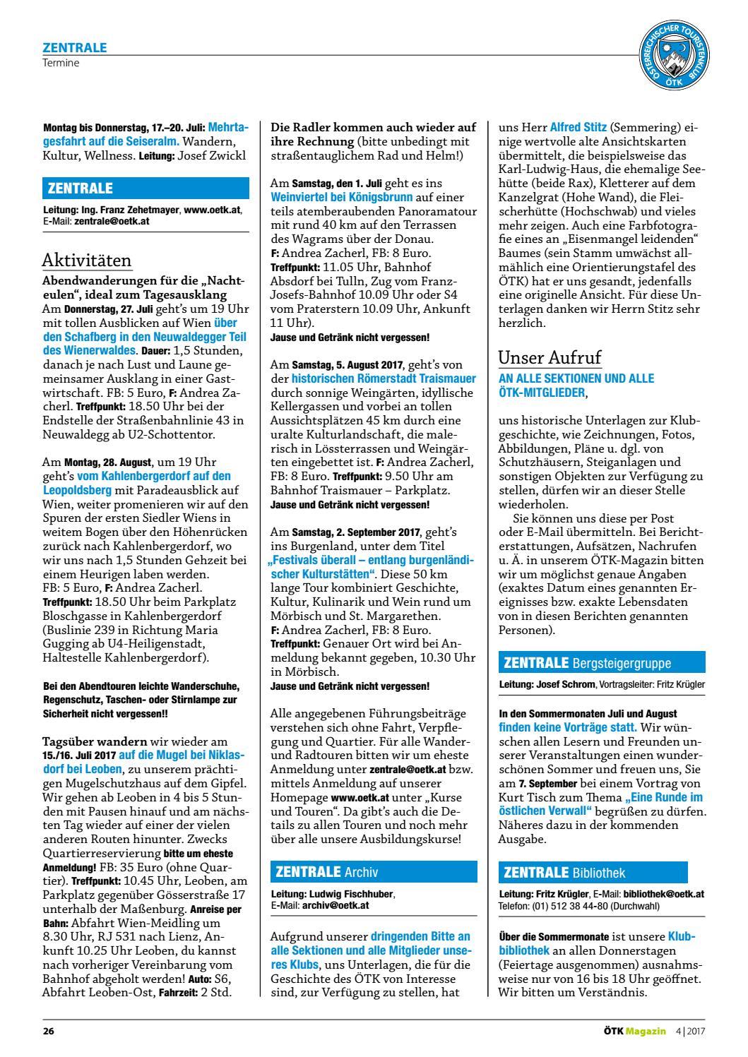 ötk Magazin 4 2017 By ötk österreichischer Touristenklub Issuu