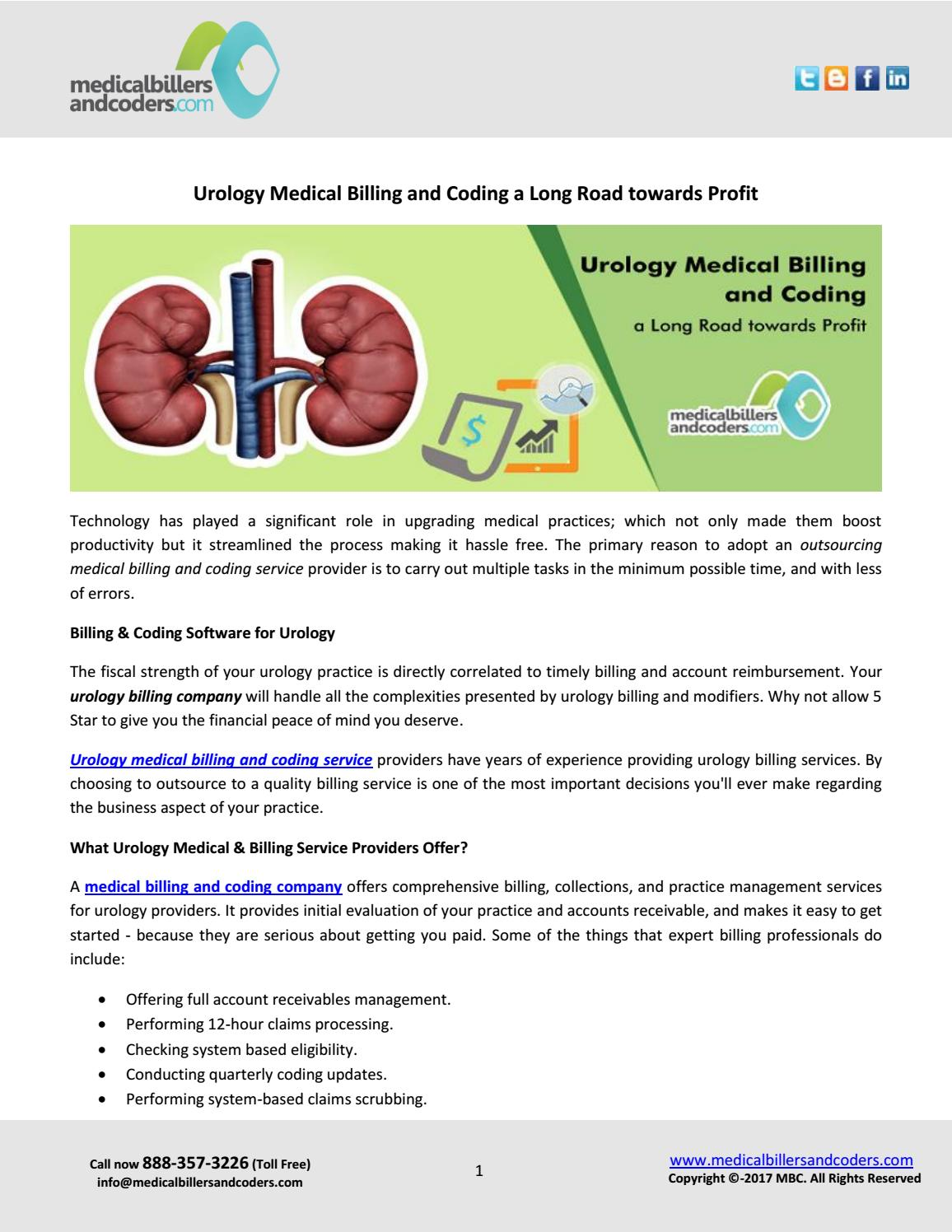 urology medical billing and coding a long road towards
