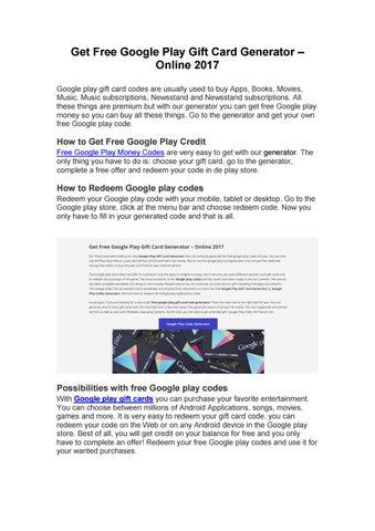google play store redeem codes generator
