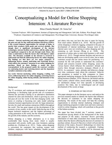 literature review on students shopping online