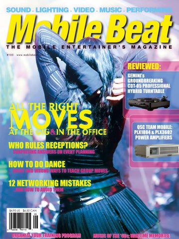 Issue 103 october 2006 all the right moves at the gig in the office