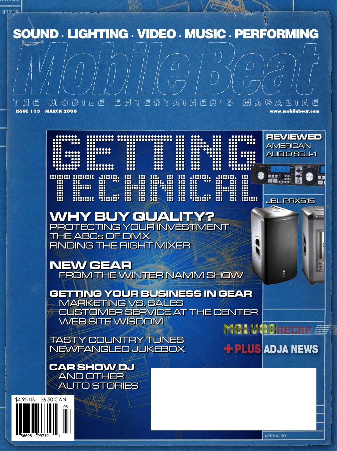 Issue 113 - November 2008 - Getting Technical by Mobile Beat