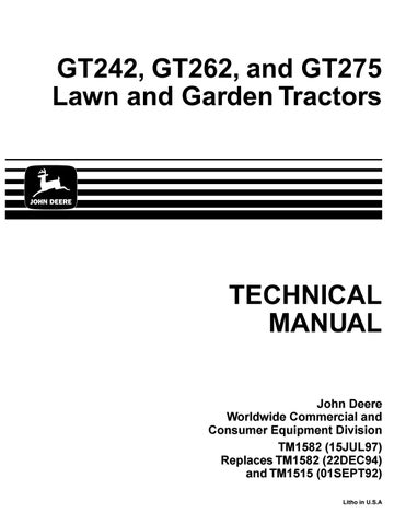 page_1_thumb_large john deere gt275 lawn garden tractor service repair manual by