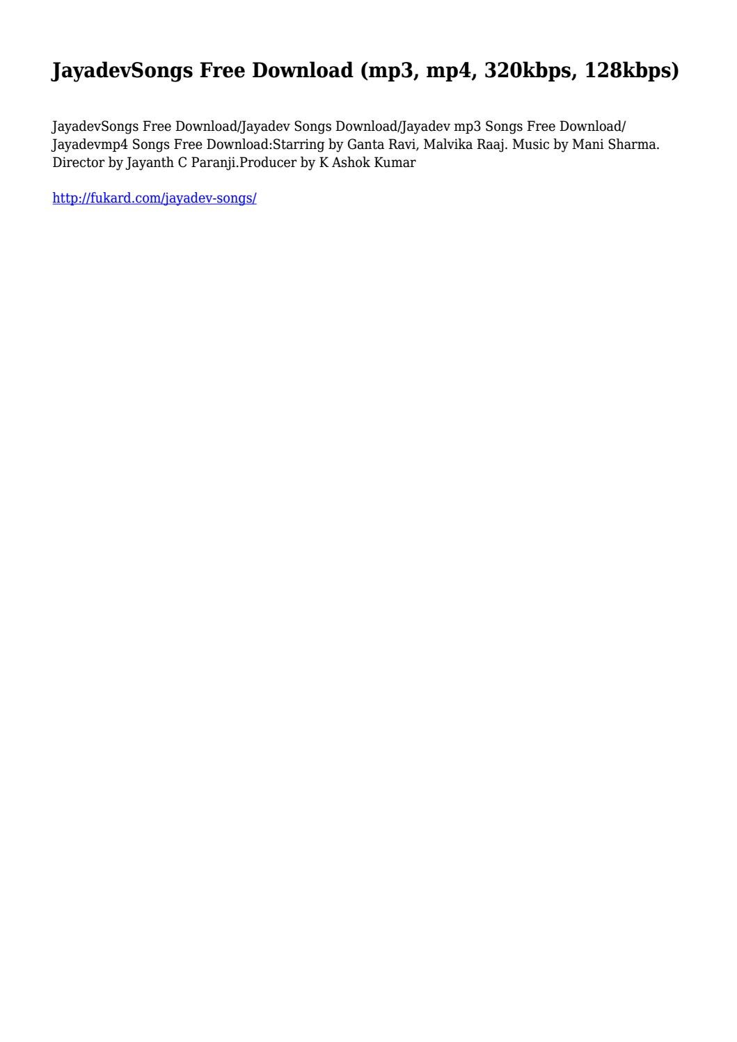 JayadevSongs Free Download (mp3, mp4, 320kbps, 128kbps)... by  gruesomeswamp8522 - issuu