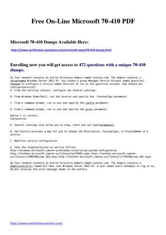 Microsoft 70-410 Pdf