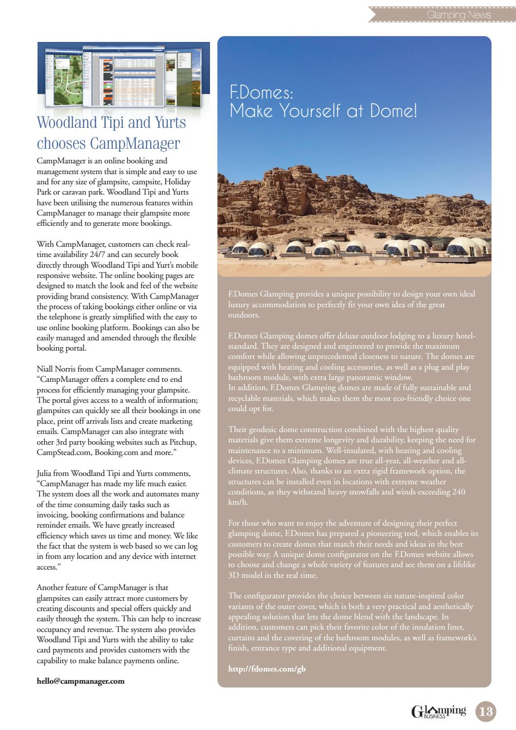 International Glamping Business July Issue By Holiday Parks