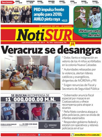 Notisur 26 De Junio 2017 By Diario Notisur Coatzacoalcos
