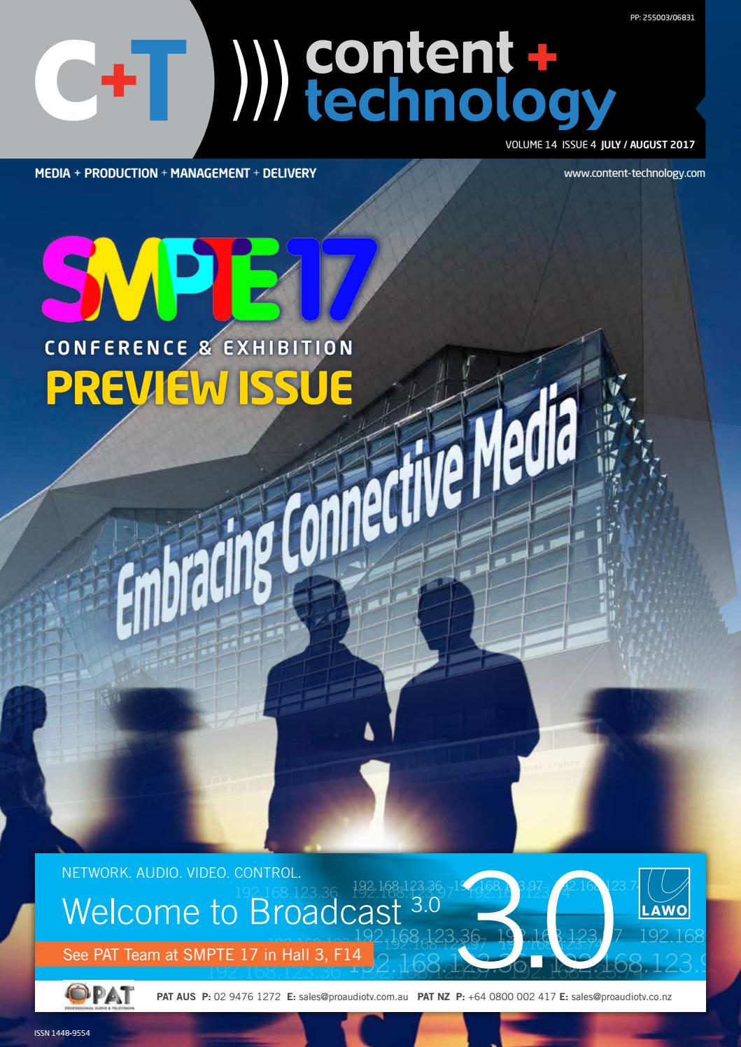 Content + Technology ANZ July-August 2017 by Broadcastpapers