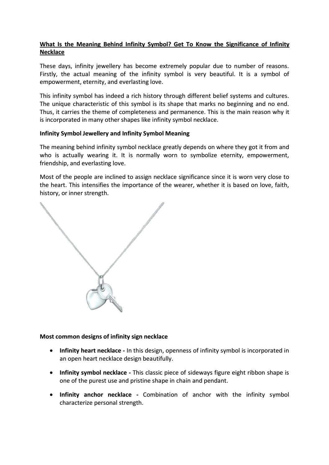 What is the meaning behind infinity symbol get to know the what is the meaning behind infinity symbol get to know the significance of infinity necklace by alexis byron issuu buycottarizona Images