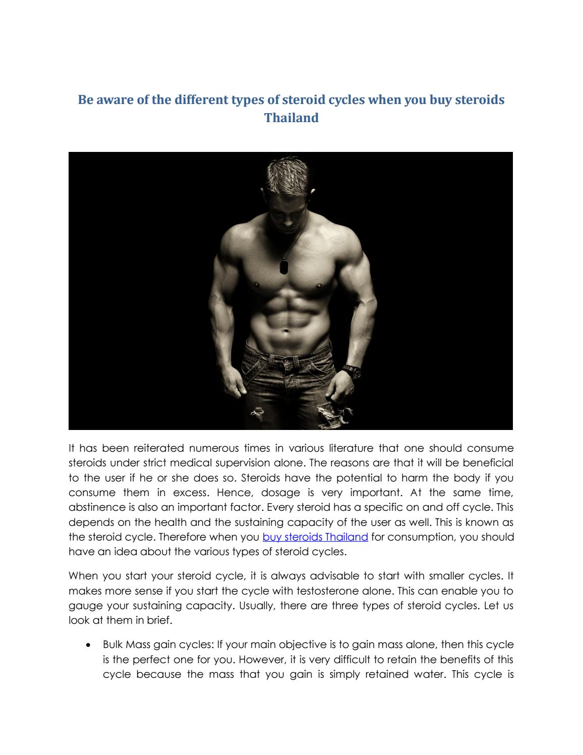 Be aware of the different types of steroid cycles when you buy