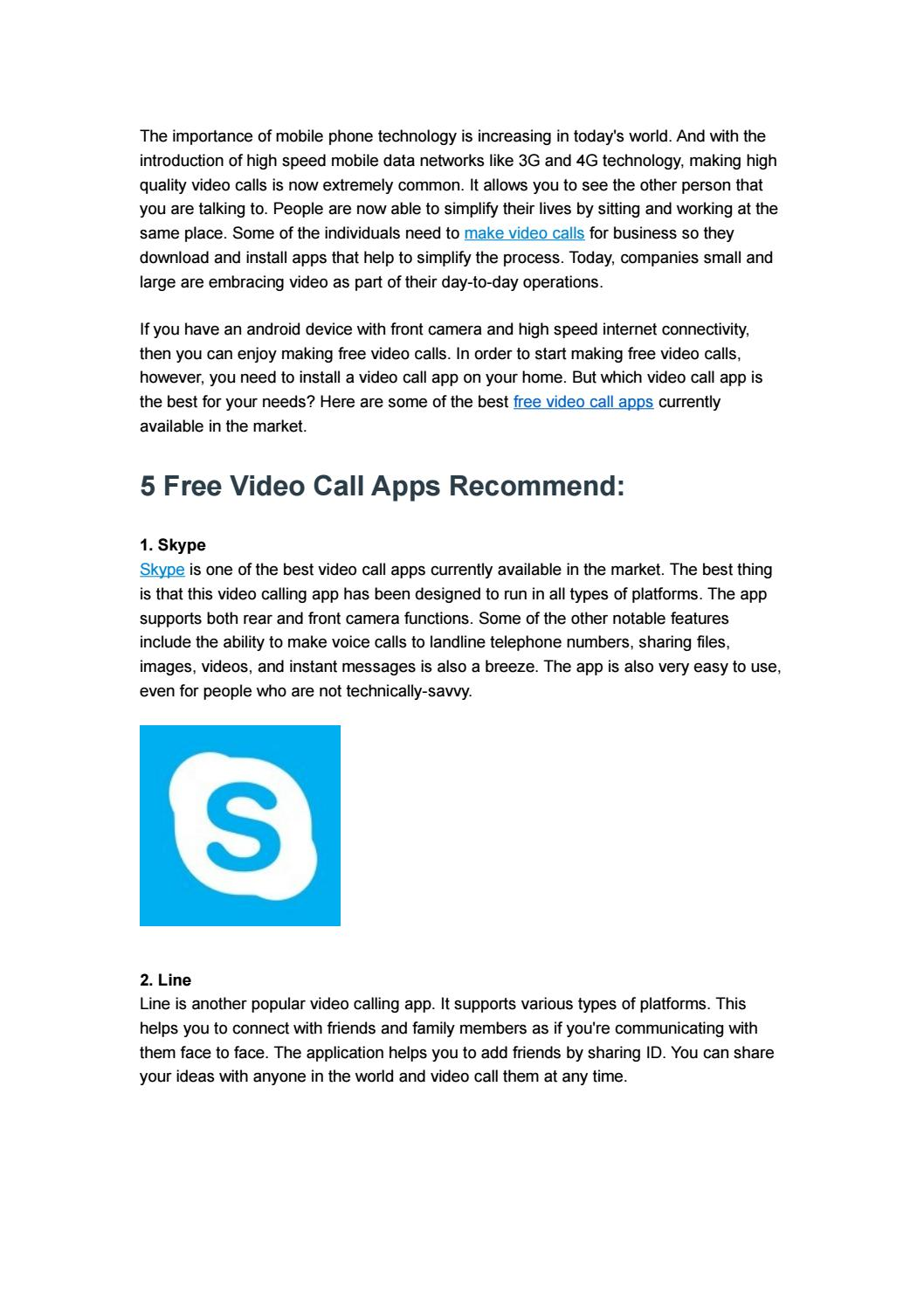 5 Free Video Call Apps by ezTalks - issuu
