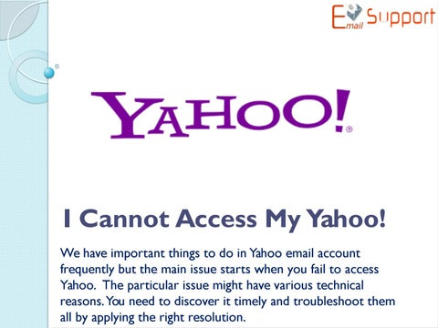 i have a new phone number and cant access my yahoo account