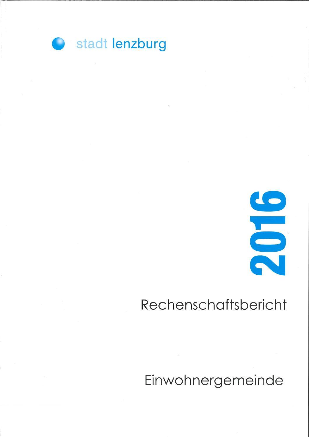 Rechenschaftsbericht 2016 by Stadt Lenzburg - issuu