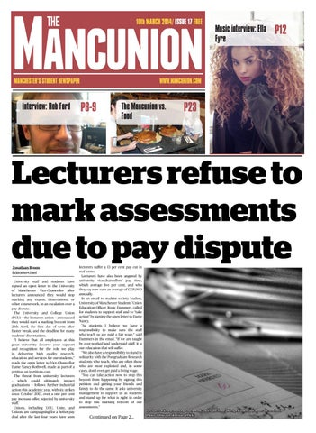 5e616e11c277 Issue17 by The Mancunion - issuu