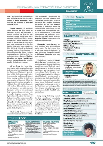 New Ukrainian Bankruptcy Code. The finance and debt restructuring perspective